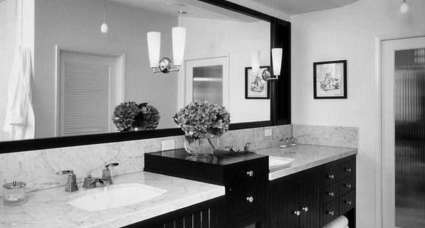 Bathroom Tremendeous Grey Black Interior