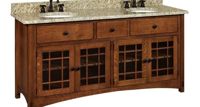 Bathroom Vanity Standing Sink Cabinet Granite Top Solid Wood