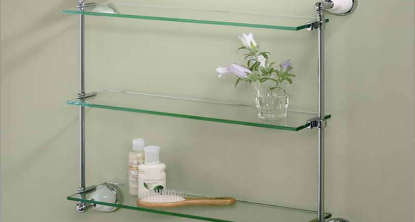 Bathroom Wall Shelf Designs Ideas Glass Surface