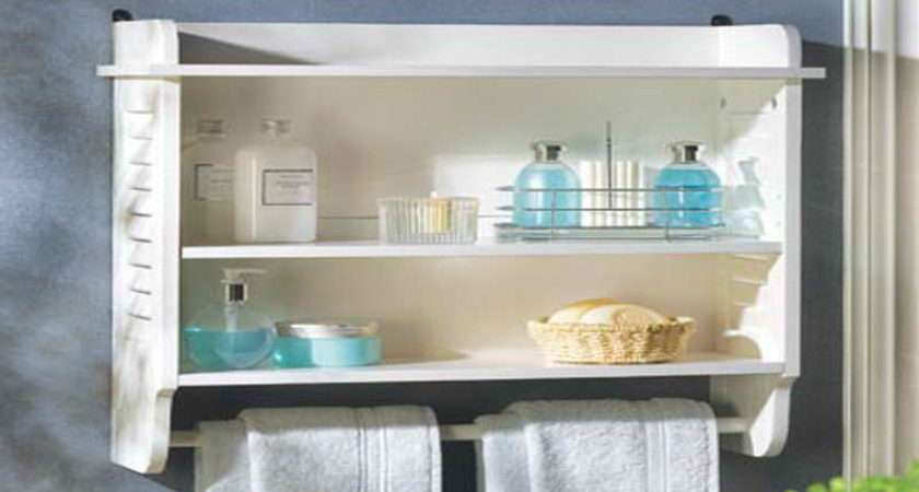 Bathroom Wall Shelf Designs Ideas White Theme