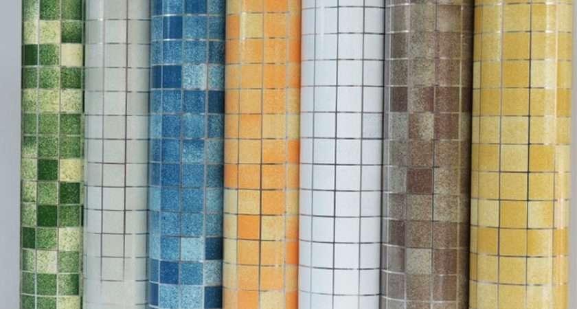 Bathroom Wall Stickers Pvc Mosaic Kitchen