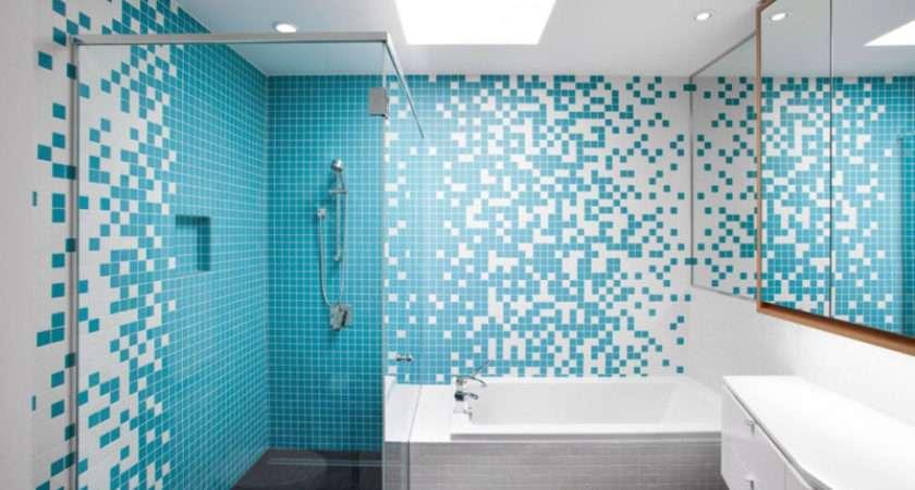 Bathrooms Blue Tiles Inspire Contemporist