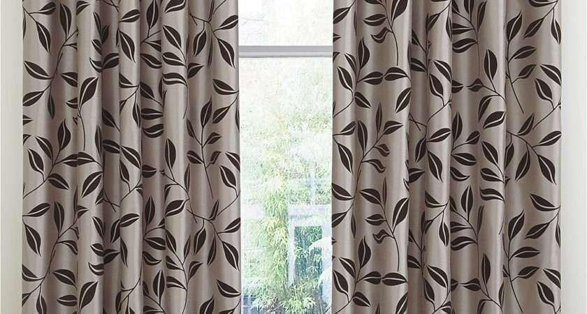 Bay Leaf Flocked Lined Eyelet Curtains Littlewoods