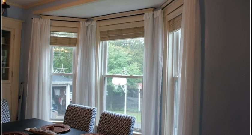 Bay Window Curtain Ideas Curtains Home Decorating