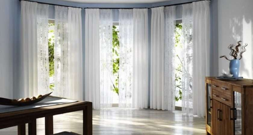Bay Window Curtain Pole Ideas Small Details Great