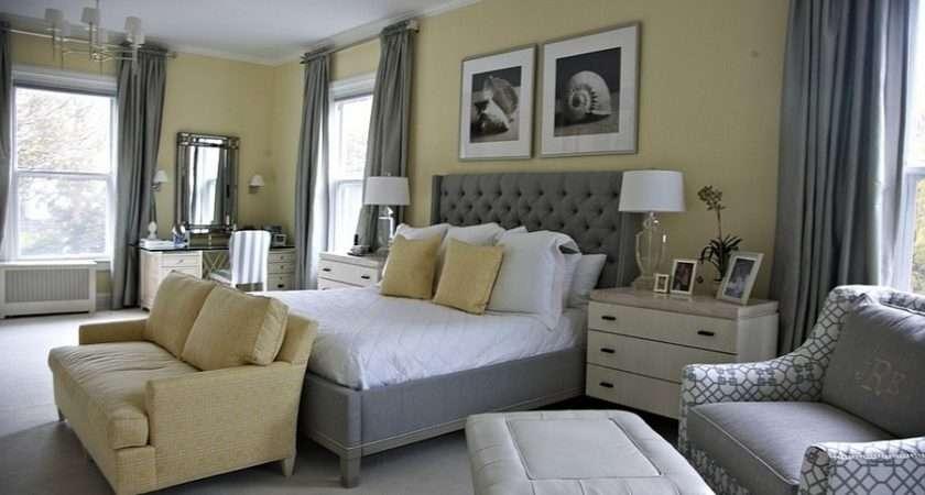 Beach Style Bedroom Yellow Splash Gray Design Libby