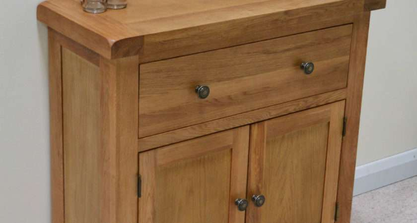 Beaufort Oak Mini Sideboard Small Storage Cupboard