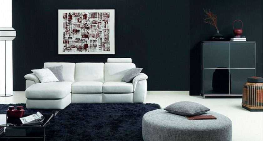 Beautiful Black White Living Room Furniture Hall
