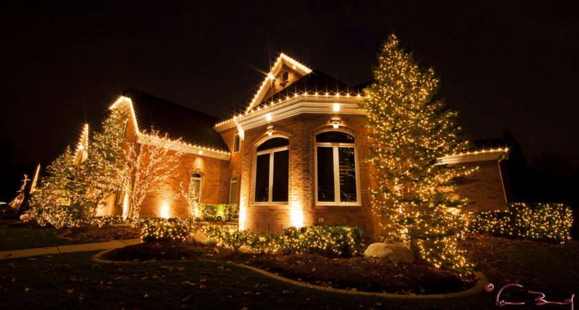 Beautiful Christmas Lights Houses Lamps Ideas