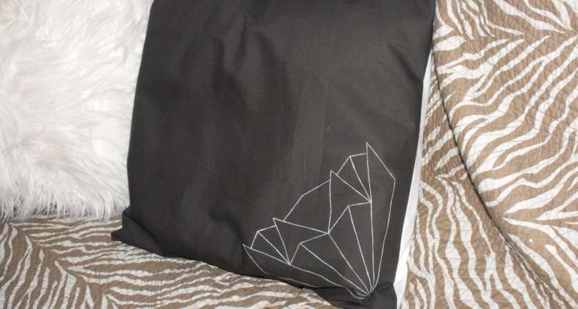 Beautiful Hand Painted Art Deco Pillow Cushion Rainsemporium