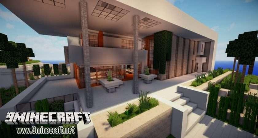 Beautiful Modern House Map Minecraft Maps