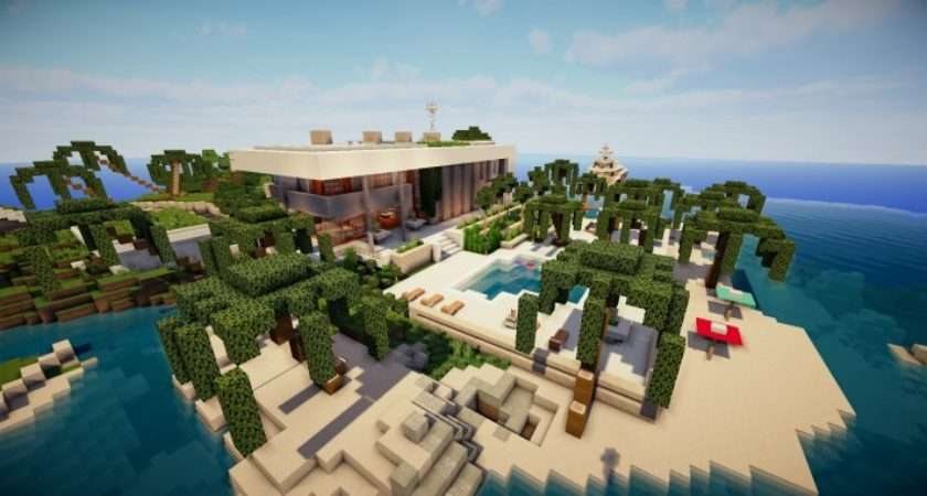 Beautiful Modern House Map Minecraft