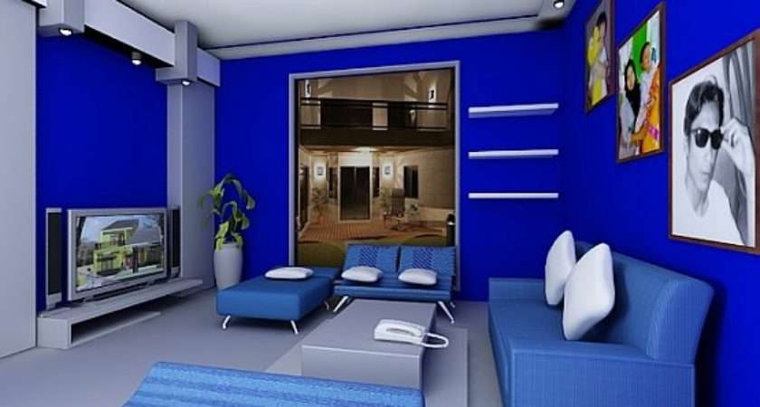 Beautiful Modern Living Room Ideas Blue Hall