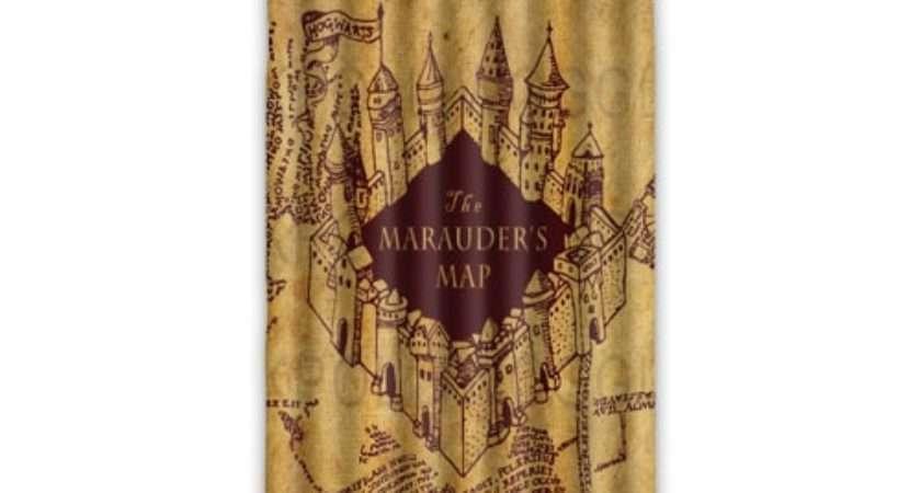Beautiful Print Marauder Map Harry Potter Window