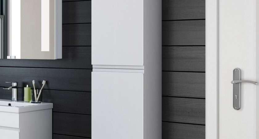 Beautiful Wall Hung Tall Bathroom Cabinets
