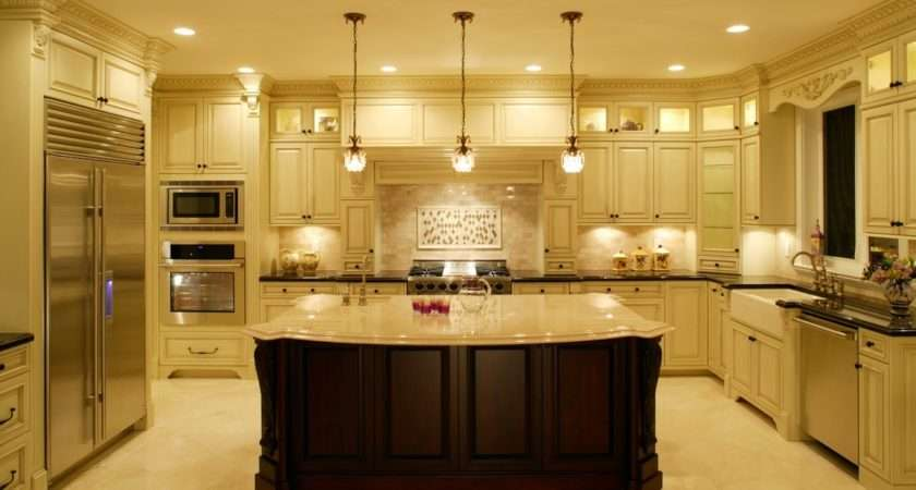 Beautiful White Luxurious Kitchens Home Design Inside