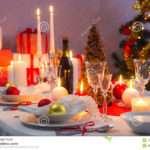 Beautifully Set Table Christmas Eve Photos