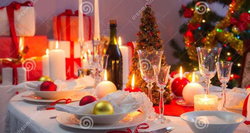 Beautifully Set Table Christmas Eve Photos