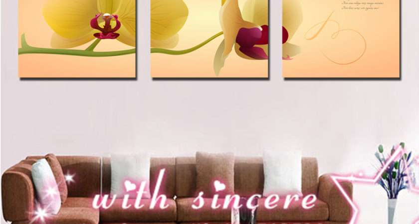 Beauty Orchid Cute Fresh Simple Love Home Decor Wall