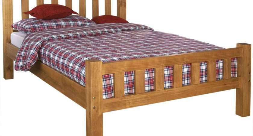 Bed Frame Mattress Deals High Foot End White