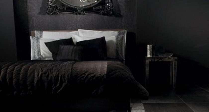 Bedroom Black Gothic Design Ideas Red