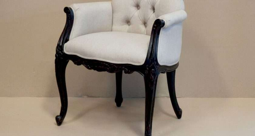Bedroom Chairs Louis Upholstered Low Back Chair