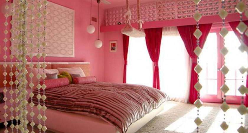Bedroom Create Girly Decor Pink Bed Also Bedrooms