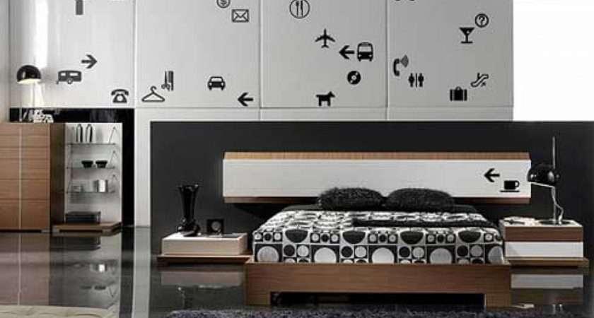 Bedroom Decor Photos Modern Interior Design Black White