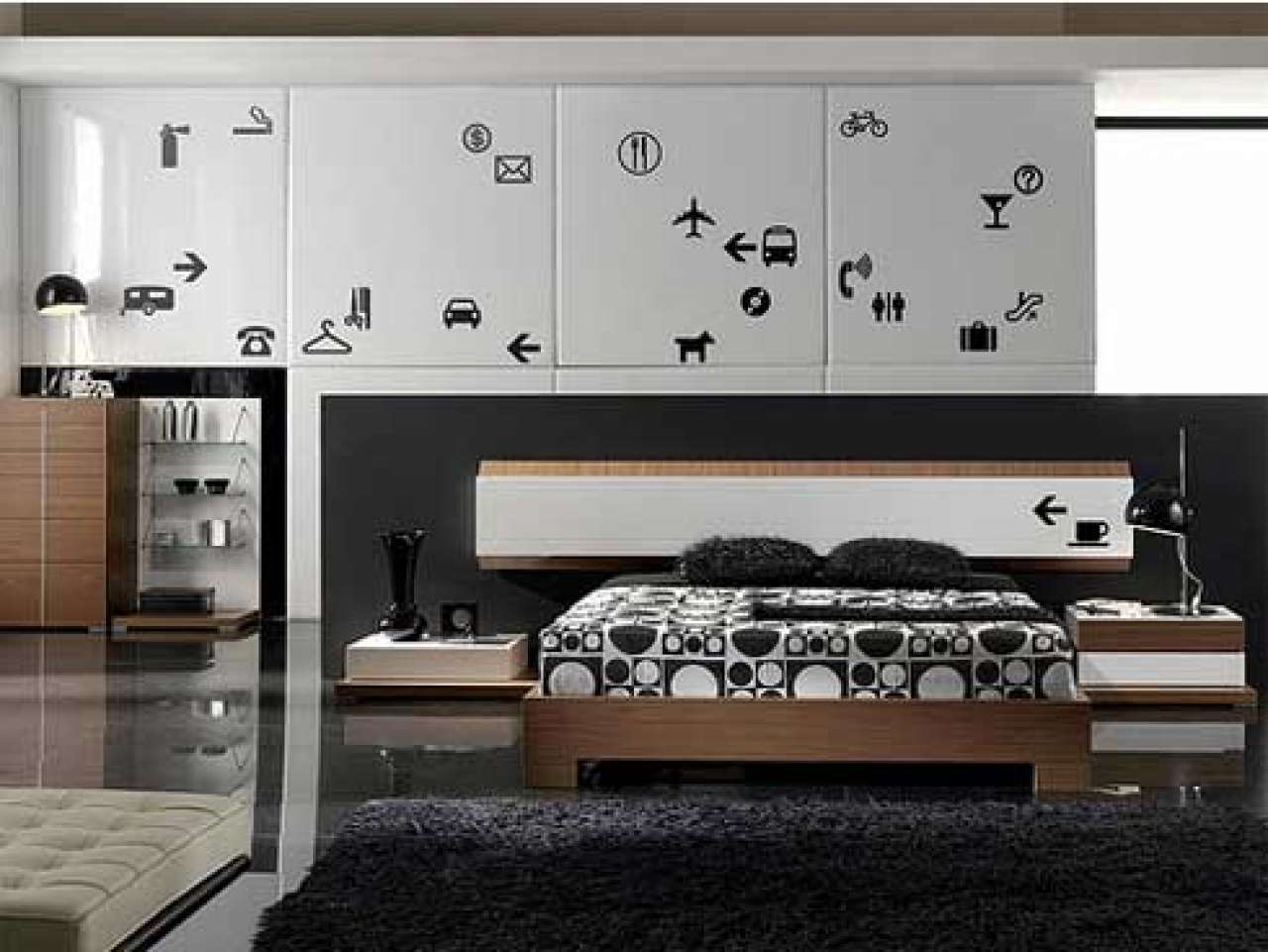 Bedroom Decor Photos Modern Interior Design Black White