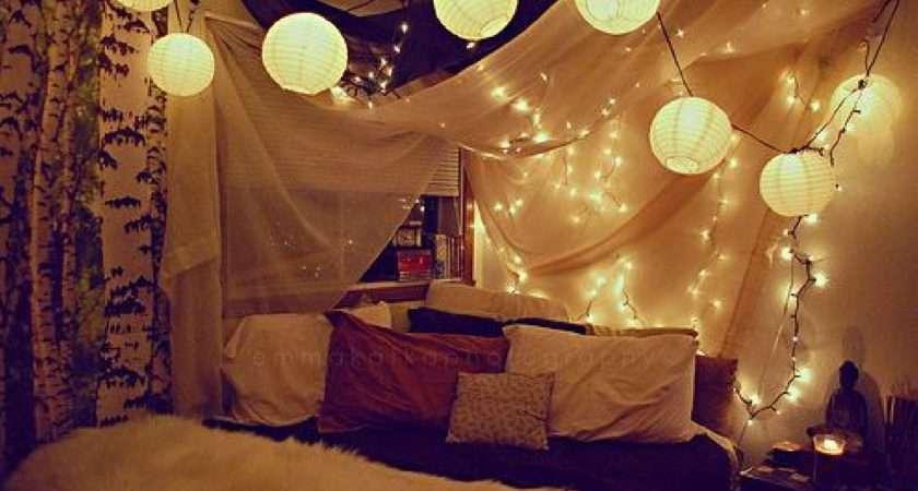 Bedroom Decorating Ideas Christmas Lights Room