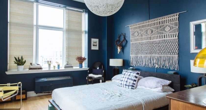 Bedroom Design Marvelous Dark Blue Living Room Wall