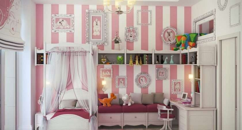 Bedroom Designs White Pink Little Girls Ideas Small