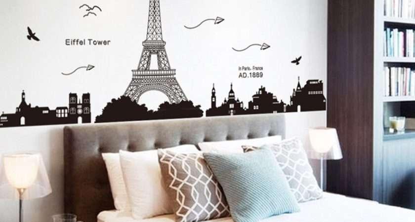 Bedroom Fabulous Wall Decal Eiffel Tower Decor
