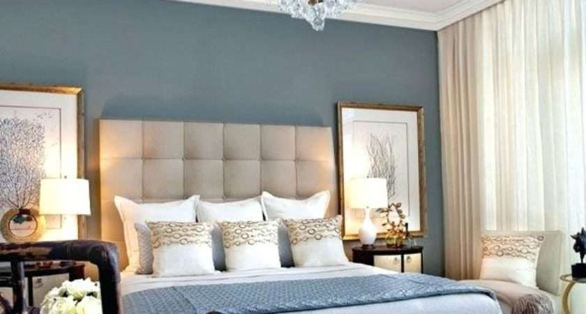 Bedroom Feature Wall Ideas Remarkable Blue Cream