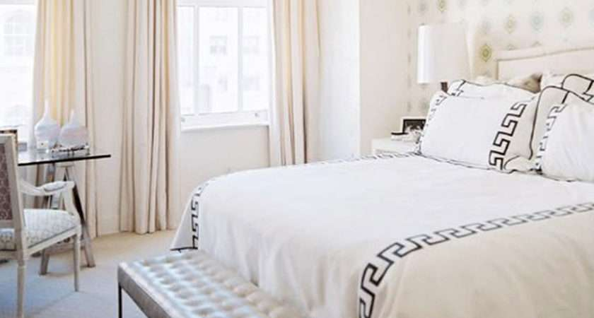 Bedroom Foxy White Chic Decoration Using All