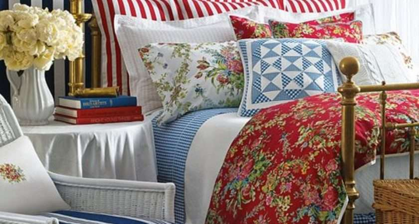 Bedroom Goes Red White Blue