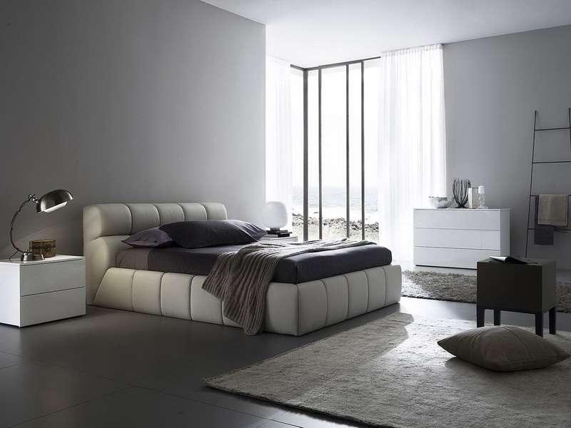 Bedroom Gray Color Schemes Spacious Design