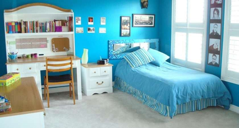 Bedroom Ideas Girl Blue Teenage Bedrooms Designs