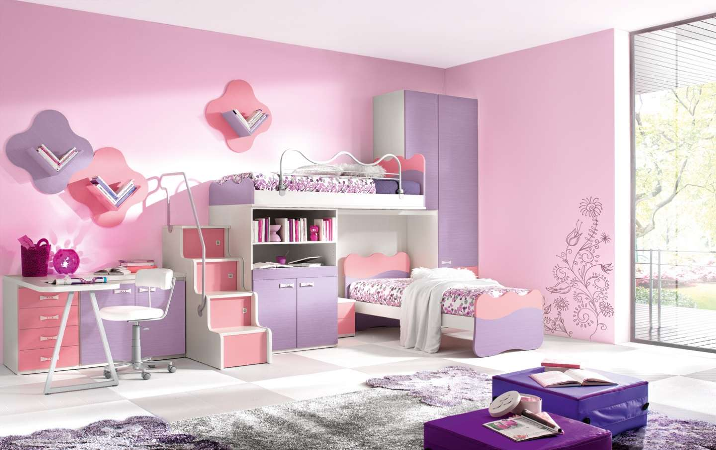 Bedroom Ideas Teenage Girls Pink Purple Homecaprice