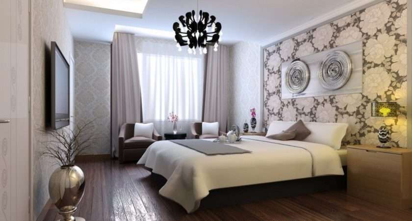 Bedroom Nice Wall Colors Black Crystal Chandelier Within