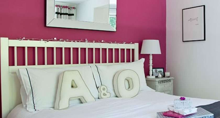 Bedroom Pink Feature Wall Colour Schemes