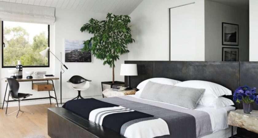 Bedroom White Grey Black Color Design Ideas Modern