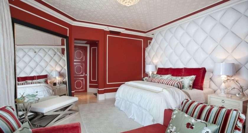 Bedroom red white 2017