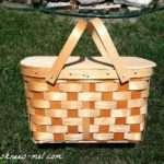 Bee Knees Diy Chalkboard Picnic Basket