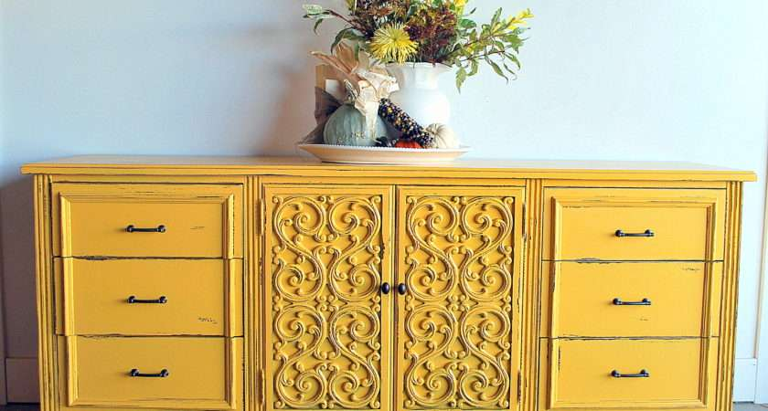 Before After Fun Yellow Dresser Sweet Pickins