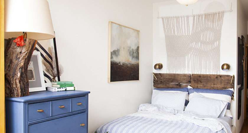Before After Small Space Bedroom Makeover Lonny