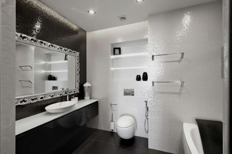 Begovaya Stunningly Stylish Interiors Striking Black White