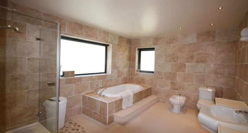 Beige Brown Bathroom Ensuite
