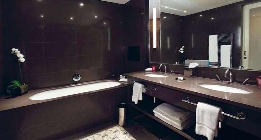 Beige Brown Tiled Bathrooms Modern Bathroom Tiles