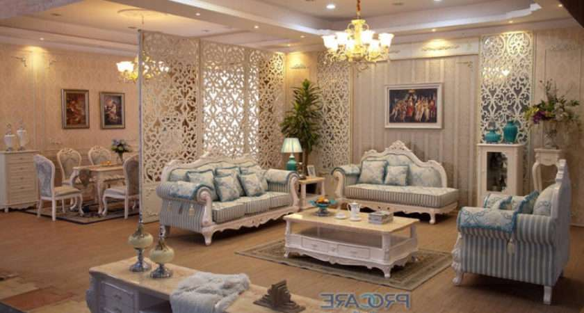 Beige Gold Living Room Peenmedia